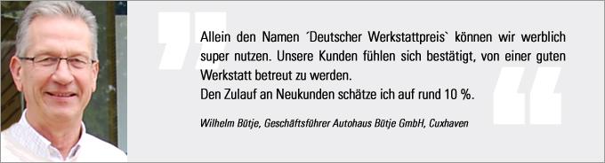 Wilhelm Bütje, Deutscher Werkstattpreis, kfz-betrieb, Original Marken Partner