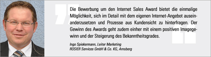 Ingo Spiekermann, Internet Sales Award, kfz-betrieb