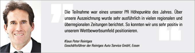 Klaus Peter Reintges, Vertriebs Award