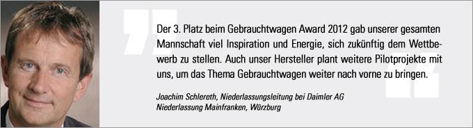 Statement Schlereth, Gebrauchtwagen Award
