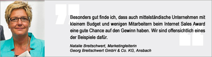 Natalie Breitschwert, Internet Sales Award