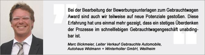 Marc Bickmeier, Gebrauchtwagen Award