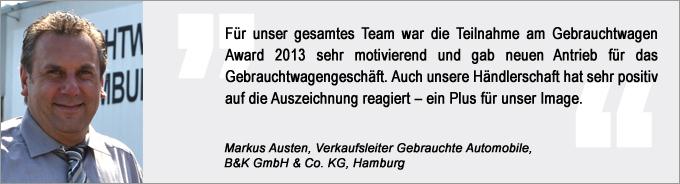 Markus Austen, Gebrauchtwagen Award