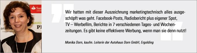 Monika Dorn, Autohaus Dorn, Vertriebs Award 2014, kfz-betrieb