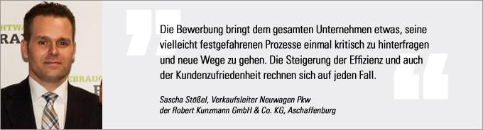 Sascha Stößel, Kunzmann, Vertriebs Award 2014, kfz-betrieb
