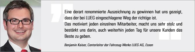 Kaiser, Lueg, Vertriebs Award