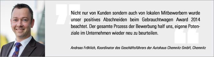 Andreas Fröhlich, Gebrauchtwagen Award, Gebrauchtwagen Praxis