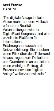 Teilnehmerstimmen des Digital Plant Kongress