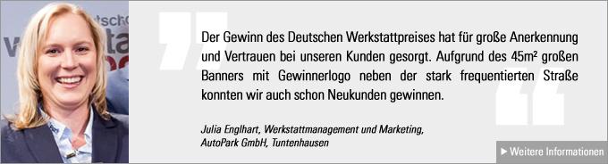 Deutscher Werkstattpreis, Julia Engelhardt