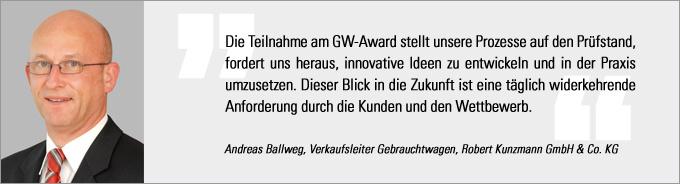 Gebrauchtwagen Award, Andreas Ballweg