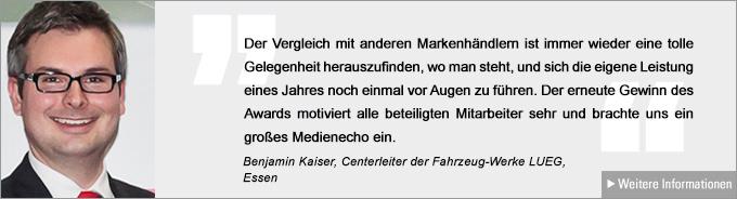 Benjamin Kaiser, Vertriebs Award