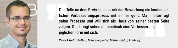 Patrick Helfrich-Hau, Internet Sales Award