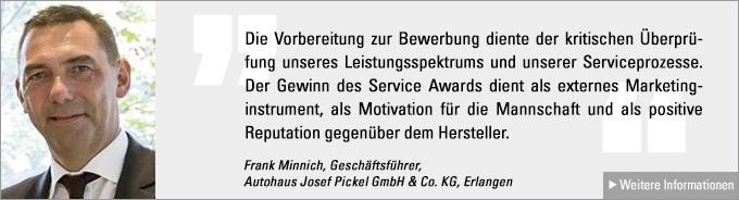Frank Minnich, Service Award
