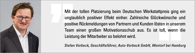 Deutscher Werkstattpreis, Stefan Vorbeck