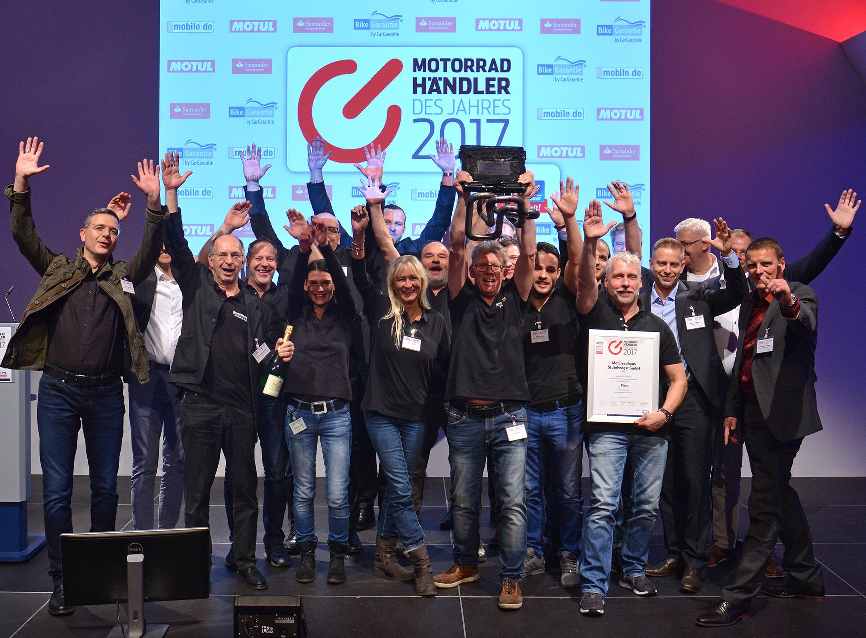 Motorradhändler des Jahres Gewinner 2017
