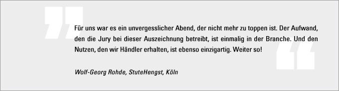 Statement Wolf-Georg Rohde, Motorradhändler des Jahres