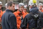 Lehrgangsleiter Jens Warncke bei der Teambesprechung.