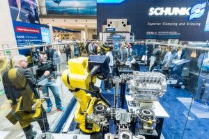 Spann- und Greiftechnikesperte Schunk war schon 2014 auf der AMB vertreten. Auch in diesem JAhr wird das Unternehmen aus Lauffen auf der AMB ausstellen.