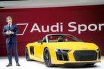 Stefan Winkelmann, neuer Chef der Quattro GmbH, präsentiert den neuen Audi R8 Spyder V10.