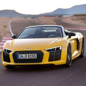 Bis zu 318 km/h soll der neue Audi R8 Spyder V10 erreichen.