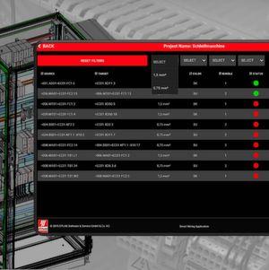 Die Smart Wiring Application liefert Schritt-für-Schritt Anweisungen für den Verdrahter auf Basis der Engineering Daten.