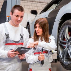Ausgezeichnete Ausbildung bei Audi