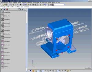 Bei der CAD-basierten Messsoftware Calypso 4.6 genügt ein Mausklick auf eine Toleranz im CAD-Modell zur automatischen Erzeugung der optimalen Messstrategie. Bild: Carl Zeiss IMT