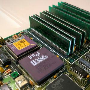 Vor 25 Jahren: Intel 80386 mit Mainboard