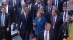 Eröffnungsrundgang - Der amerikanische Präsident Barack Obama hat am 25.04.2016 gemeinsam mit Kanzlerin Angela Merkel die Hannover Messe 2016 eröffnet.