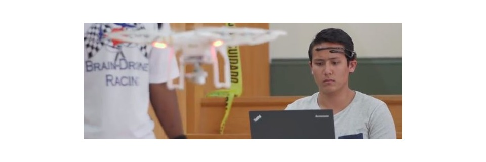 Drohnen-Wettrennen per Gedankensteuerung