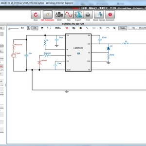 WEBENCH Schematic Editor