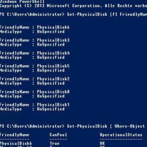 Storage-Konfiguration in Windows Server 2016