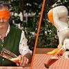 Abkühlen und schmunzeln: Der Fleischi und der Roboter im Biergarten