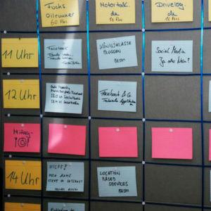 Kreativität und Engagement gefragt: Beim Car-Camp entsteht die Agenda vor Ort.