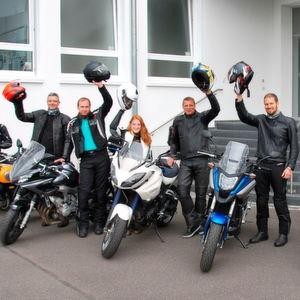 Judiths Motorrad-Premiere