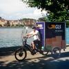 GLS-Pakete kommen am Bodensee per Lastenrad