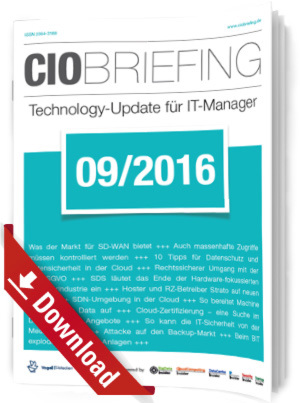 CIO Briefing 09/2016