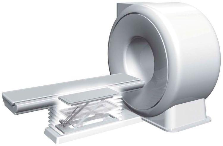 Der Hubzylinder im Kernspintomographen spart Platz und sorgt für geräuscharmen Betrieb.