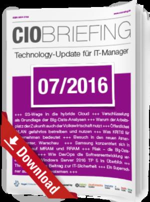 CIO Briefing 07/2016