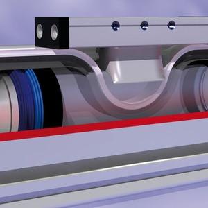 Zahnriemenzylinder für Anwendungen im Synchronlauf und für Positionsabfragen geeignet
