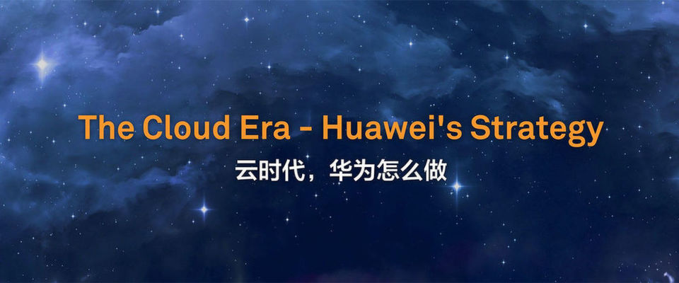 """Aus der Präsentation von Ken Hu, einer der drei """"Rotating CEOs"""" von Huawei: Cloud-Computing ist eine der wesentlichen Prinzipien und Voraussetzungen für die Digitalisierung und für ein funktionierendes """"ökologisches Wirtschaftssystem""""."""