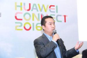 Liu Shaowei, President der Huawei Enterprise Networking Product Line auf der Veranstaltung Connect 2016 in Shanghai.