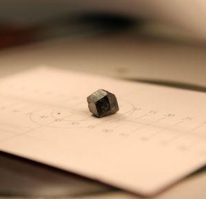 Einkristalle messen Gammastrahlung