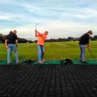 Mit Aagon beim Golfen