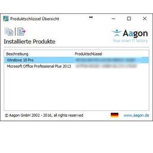 Microsoft-Produktschlüssel auf einen Blick
