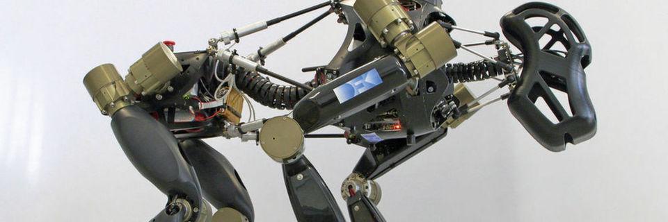 Der hominide Roboter Charlie besitzt die Fähigkeit, seine Haltung an die jeweilige Gegebenheit anzupassen.