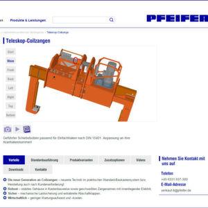 Neuer Online-Auftritt für Lastaufnahmemittel und Wendegeräte