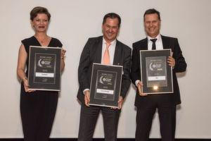 Die Gewinner des Storage-Insider Readers' Choice Award 2016 in der Kategorie All-Flash-Array: von links nach rechts: Agnes Pakowski, Christian Fuhrmann und Dirk Köhler