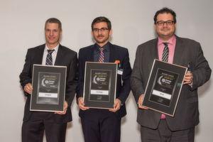 Die Gewinner des Storage-Insider Readers' Choice Award 2016 in der Kategorie NAS: von links nach rechts: Henrique Atzkern, Philip Rankers und Florian Schorn