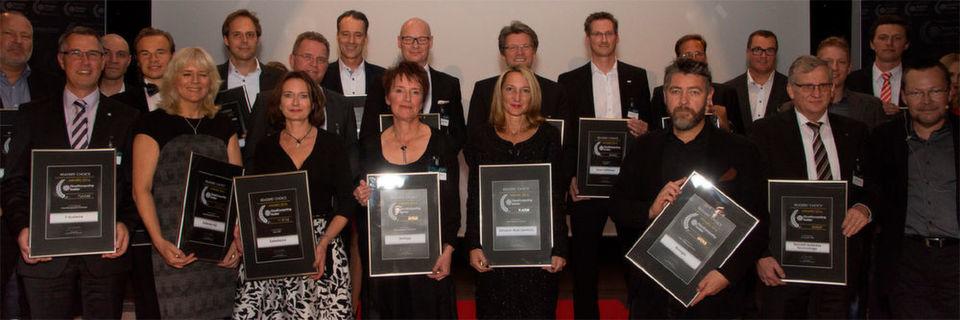 Gruppenfoto aller Gewinner der sieben Kategorien, über die die Leser von CloudComputing-Insider abgestimmt haben. Herzlichen Glückwunsch und ein großes Danke an die Leser, die mitgemacht haben.